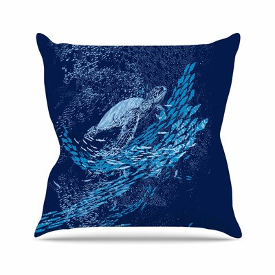 The Turtle Way by Frederic Levy-Hadida Throw Pillow Size: 16 H x 16 W x 3 D