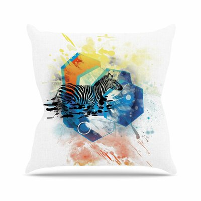 Walk Off The Colors by Frederic Levy-Hadida Throw Pillow Size: 18 H x 18 W x 3 D