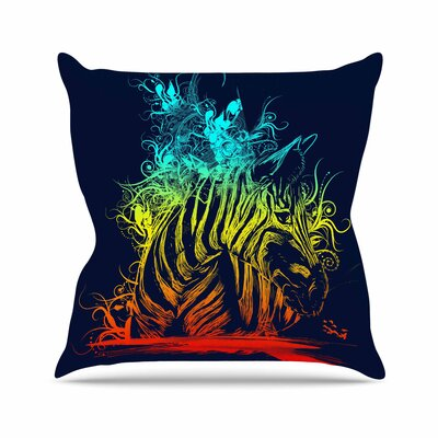Wild Nature by Frederic Levy-Hadida Throw Pillow Size: 16 H x 16 W x 3 D