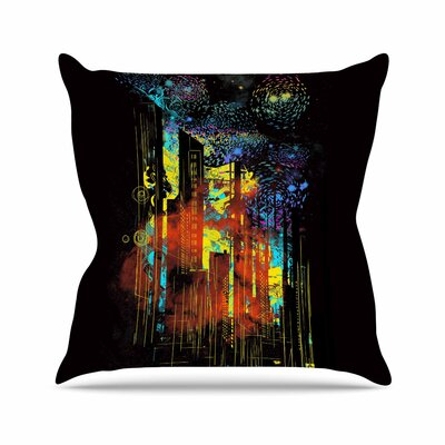 Starry City Lights by Frederic Levy-Hadida Throw Pillow Size: 16 H x 16 W x 3 D