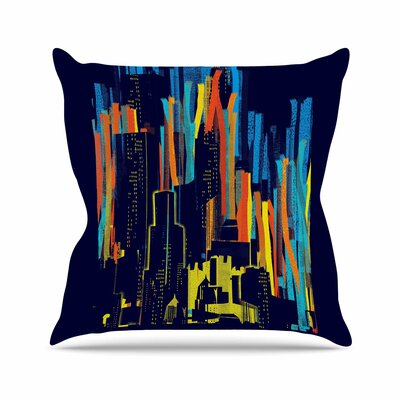 Strippy City by Frederic Levy-Hadida Throw Pillow Size: 16 H x 16 W x 3 D