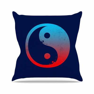 Ying Yang Surfers by Frederic Levy-Hadida Throw Pillow Size: 26 H x 26 W x 5 D