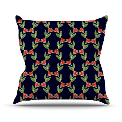 Midnight Vine Throw Pillow Size: 16 H x 16 W x 3 D