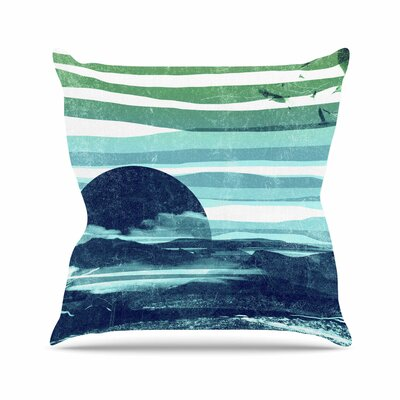 Sea Scape by Frederic Levy-Hadida Throw Pillow Size: 26 H x 26 W x 5 D