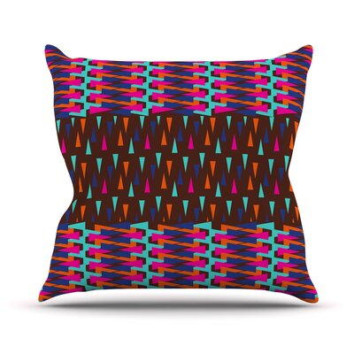 Abstract Triangle Pattern by Famenxt Throw Pillow Size: 18 H x 18 W x 3 D