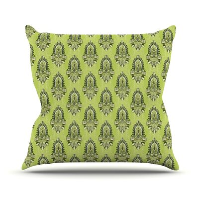 Deco Flourish Throw Pillow Size: 18 H x 18 W x 3 D