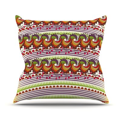 Colorful Traditional Pattern by Famenxt Throw Pillow Size: 18 H x 18 W x 3 D
