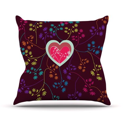 Love Heart by Famenxt Throw Pillow Size: 16 H x 16 W x 3 D
