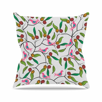 Birds World by Famenxt Throw Pillow Size: 18 H x 18 W x 3 D