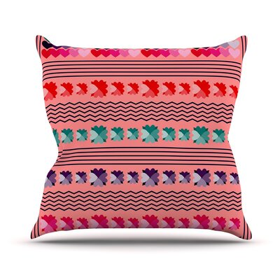 Romantic Love Pattern by Famenxt Throw Pillow Size: 18 H x 18 W x 3 D