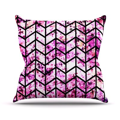 Chevron Wonderland Throw Pillow Size: 16 H x 16 W x 3 D