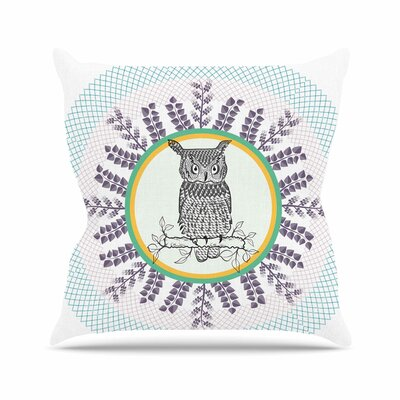 Owl by Famenxt Throw Pillow Size: 18 H x 18 W x 3 D