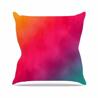 Rainbow Loon by Fotios Pavlopoulos Throw Pillow Size: 16 H x 16 W x 3 D