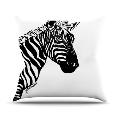 My Zebra Head Throw Pillow Size: 16 H x 16 W x 3 D