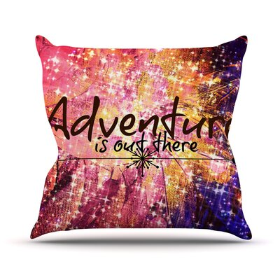 Adventure is Out There Throw Pillow Size: 18 H x 18 W x 3 D