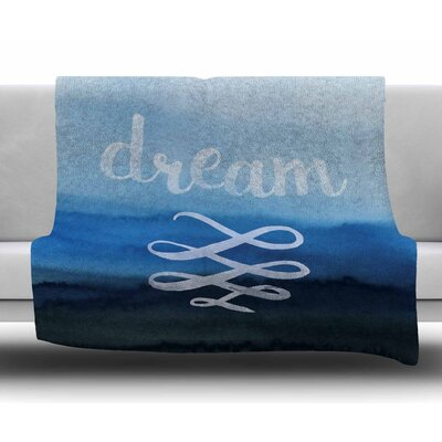 Dream In Blue Original Fleece Blanket Size: 60 W x 80 L