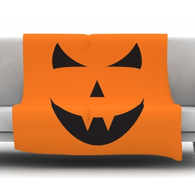 Pumpkin Trick Fleece Blanket Size: 50 W x 60 L