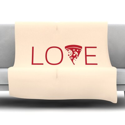 Slice of Love Fleece Blanket Size: 60 W x 80 L