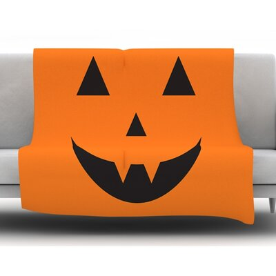 Pumpkin Treat Fleece Blanket Size: 50 W x 60 L
