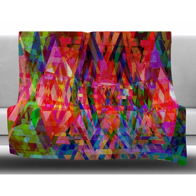 Geo-Prism by Suzanne Carter Fleece Blanket Size: 50 W x 60 L
