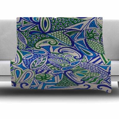 Zentangle by Rosie Fleece Blanket Size: 60 W x 80 L