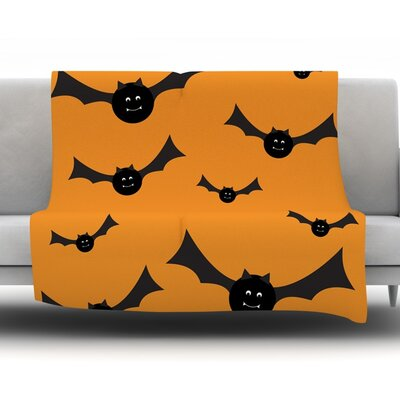 Going Batty Fleece Blanket Size: 60 W x 80 L