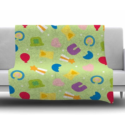 Charms Of Luck Fleece Blanket Size: 50 W x 60 L