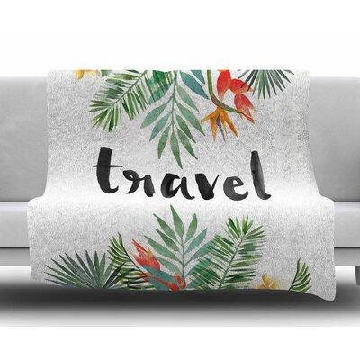 Travel Fleece Blanket Size: 50 W x 60 L