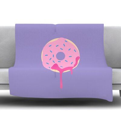 Donut You Love Me Fleece Blanket Size: 60 W x 80 L