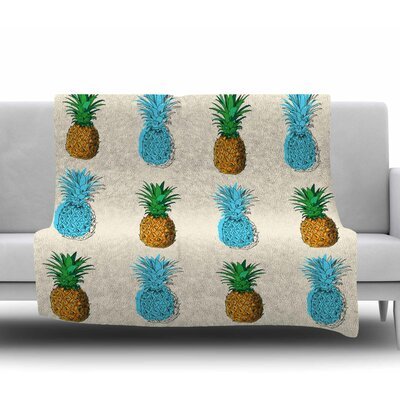 Fineapple Fleece Blanket Size: 50 W x 60 L