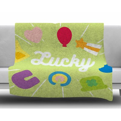 Lucky Fleece Blanket Size: 50 W x 60 L