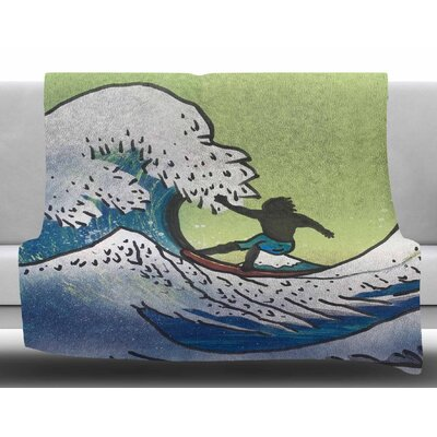 Hokusai Remake by Infinite Spray Art Fleece Blanket Size: 50 W x 60 L