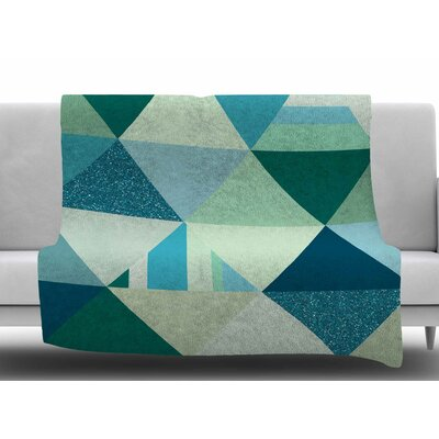 The Triangle Blues By Noonday Design Fleece Blanket Size: 60 L x 50 W x 1 D