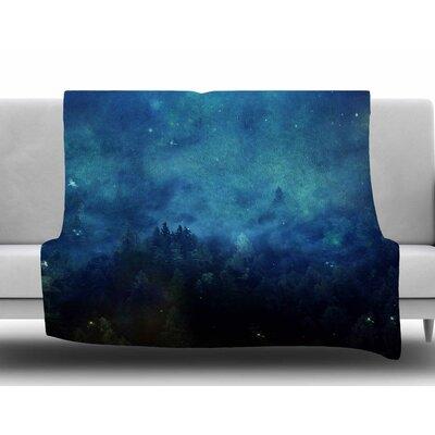 Night Forest by 888 Design Fleece Blanket Size: 60 W x 80 L