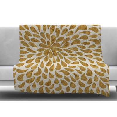 Abstract Flower by 888 Design Fleece Blanket Size: 60 W x 80 L