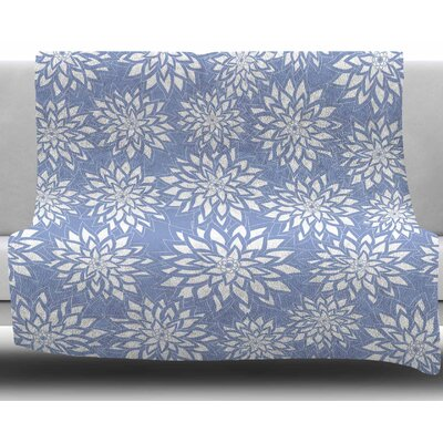 Garden by Julia Grifol Fleece Blanket Size: 50 W x 60 L, Color: Blue