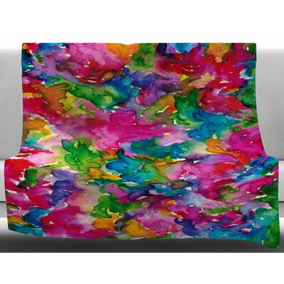 Summer Swirls by Ebi Emporium Fleece Blanket Size: 60 W x 80 L