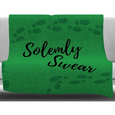 Solemly Swear by Jackie Rose Fleece Blanket Size: 60 W x 80 L