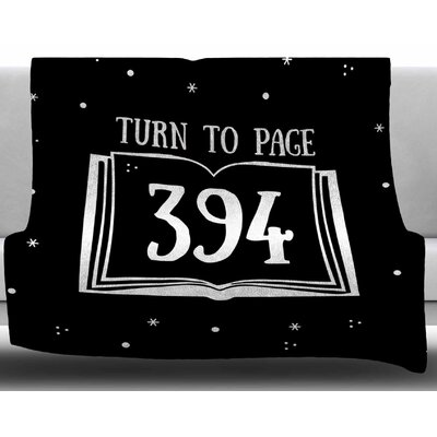 Turn to Page 394 by Jackie Rose Fleece Blanket Size: 50 W x 60 L