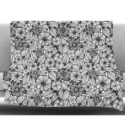 Candy Flowers by Julia Grifol Fleece Blanket Size: 60 W x 80 L