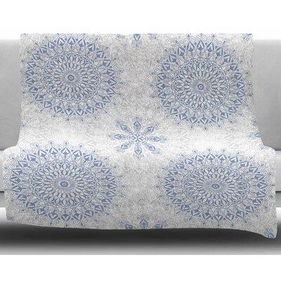 Mandalas In Blue By Julia Grifol Fleece Blanket Size: 60 L x 50 W x 1 D