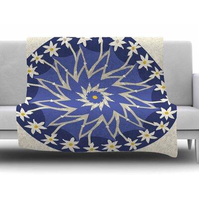 Sawtooth Flower By Laura Nicholson Fleece Blanket Size: 60 L x 50 W x 1 D