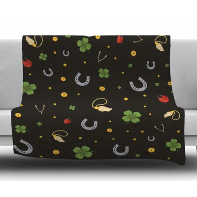 Charms Fleece Blanket Size: 50 W x 60 L