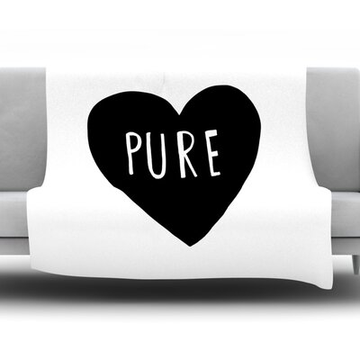 Pure Heart By Leah Flores Fleece Blanket Size: 80 L x 60 W x 1 D
