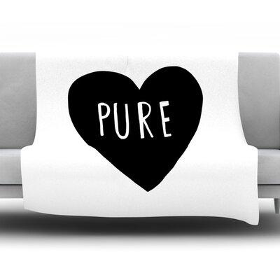 Pure Heart By Leah Flores Fleece Blanket Size: 80 L x 60 W x 1 D