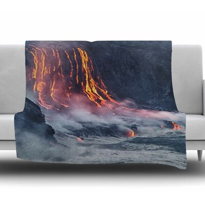 Lava Fleece Blanket Size: 50 W x 60 L