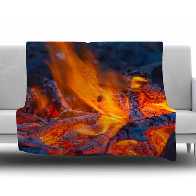 Red Hot Fleece Blanket Size: 50 W x 60 L
