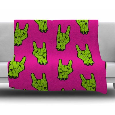 Zombie Rock Fleece Blanket Size: 50 W x 60 L
