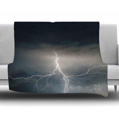 Lightning Storm Fleece Blanket Size: 60 W x 80 L