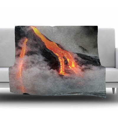 Hawaiian Lava Fleece Blanket Size: 60 W x 80 L